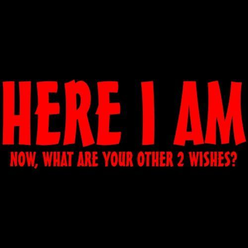 Here I Am Now What Are Your Wishes Tees for unisex