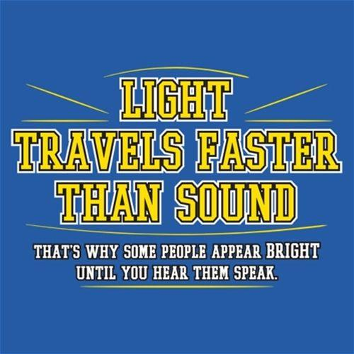 Light Travel's Faster Than Sound