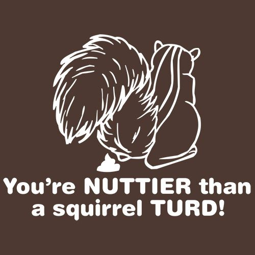 You're Nuttier Than A Squirrel Turd