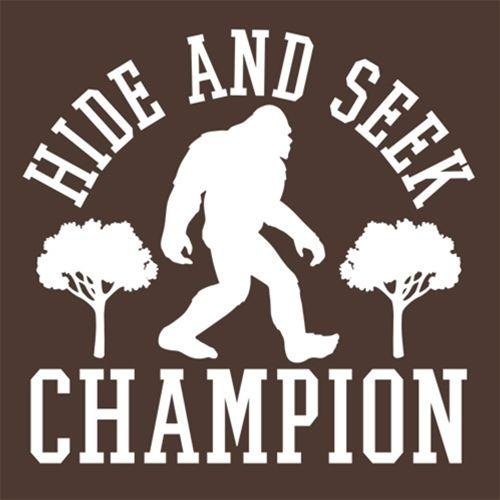 Bigfoot - Hide And Seek Champion T-Shirt - Roadkill T Shirts