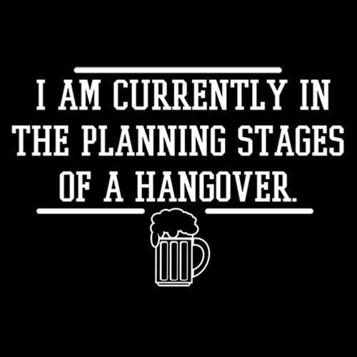 I Am Currently In The Planning Stages Of A Hangover