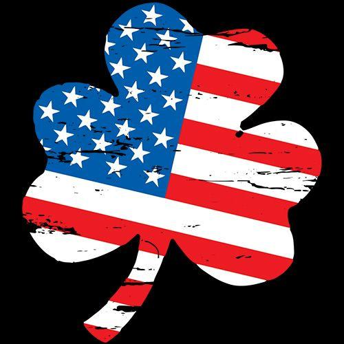 Clover Shaped American Flag - Roadkill T Shirts