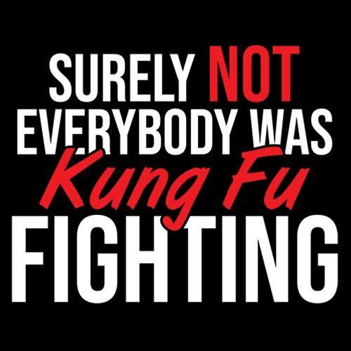 Surely Not Everybody Was Kung Fu Fighting