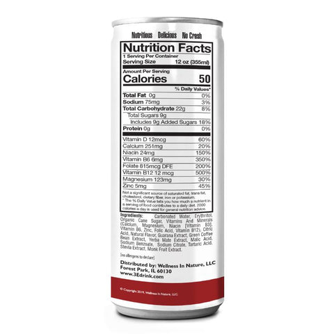 3E ESSENTIAL ENERGY ENHANCER, GRAPE CHERRY HEALTHY ENERGY DRINK (PACK OF 12)
