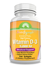 Dick Gregory's Essential Vitamin D-3 5000 IU Softgels