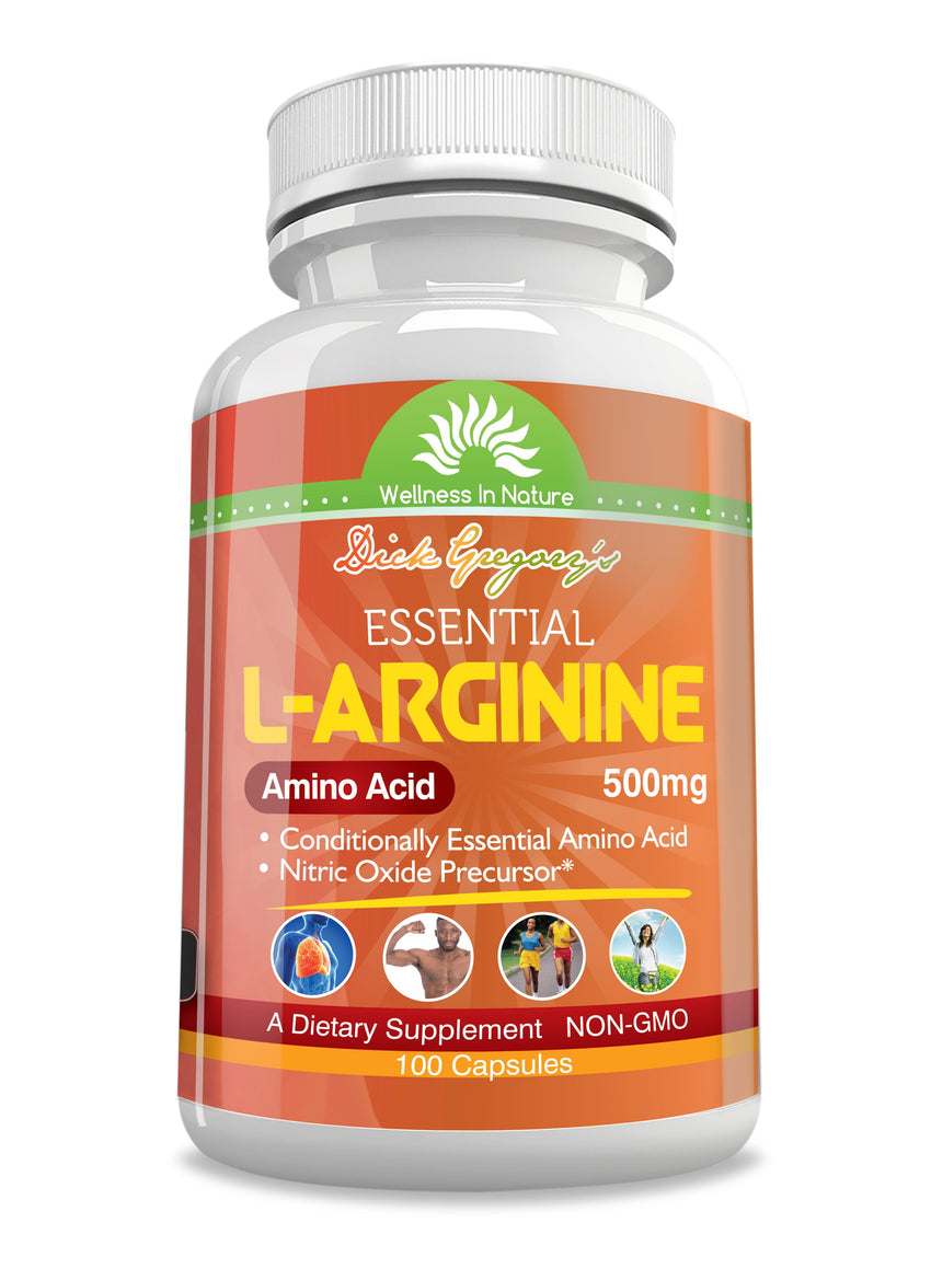 Dick Gregory's Essential L-Arginine 500 mg Veg Capsules