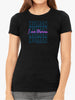 I am Human | Retro 80s Style - | Women's Slim Fit T-Shirt