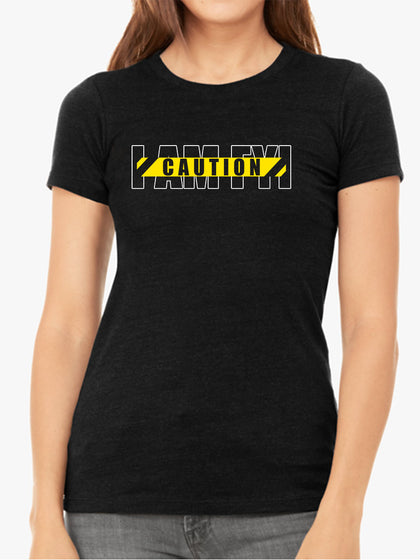 Caution |  I AM FYI | Women's Slim Fit T-Shirt