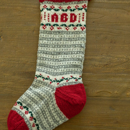 Cabin Christmas Stocking