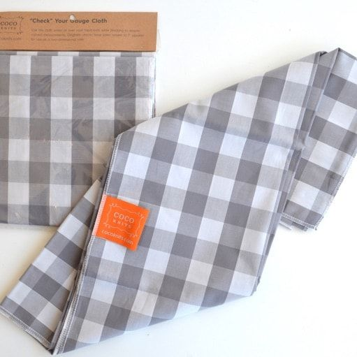 """Check"" Your Gauge Cloth"