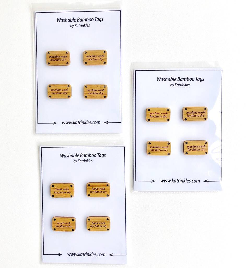 Washing Instruction Tags - Card of 4