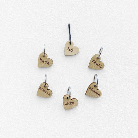 Instruction Stitch Marker Set - Card of 6 Pins