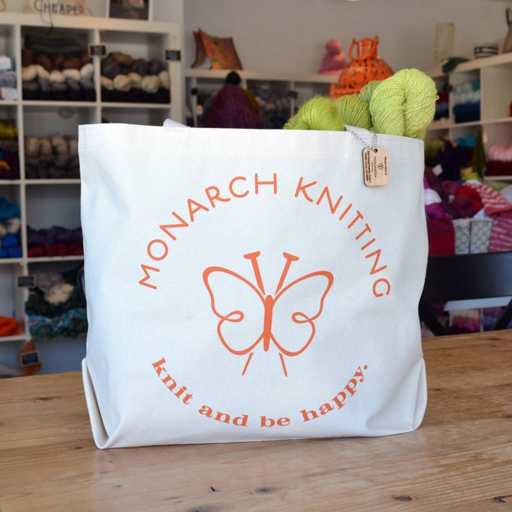 Monarch Knitting Tote Bag