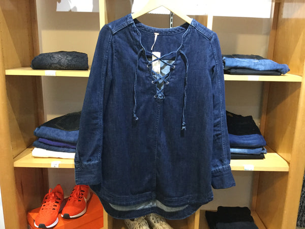 Free People Denim Tunic