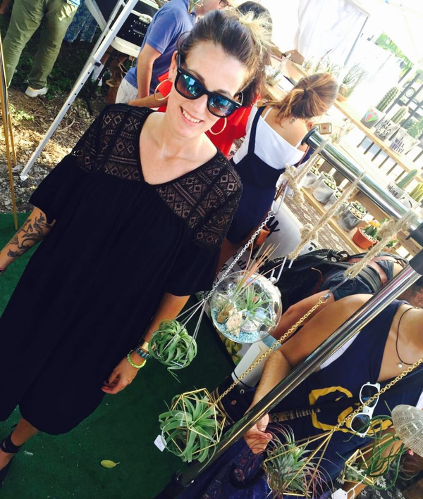 MaryJane Claverol visits the Miami Flea Market during their 1st Anniversary at the Arts and Entertainment District
