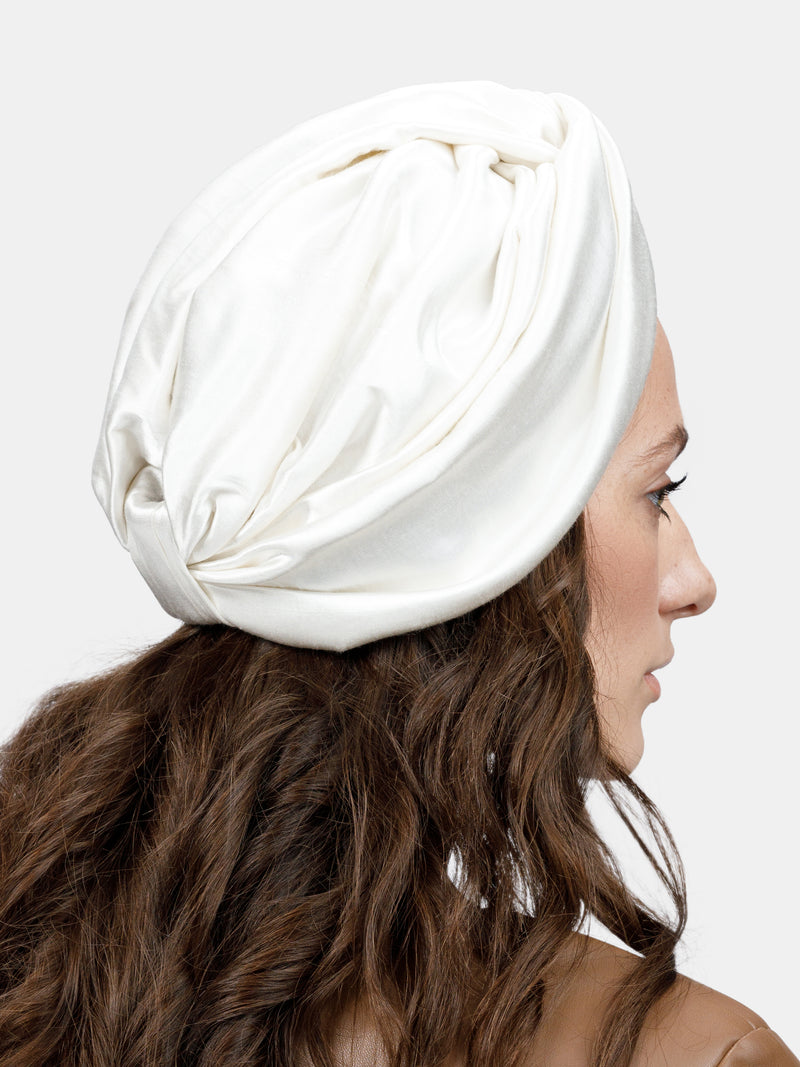 Front knot basic turban designed by Maryjane Claverol