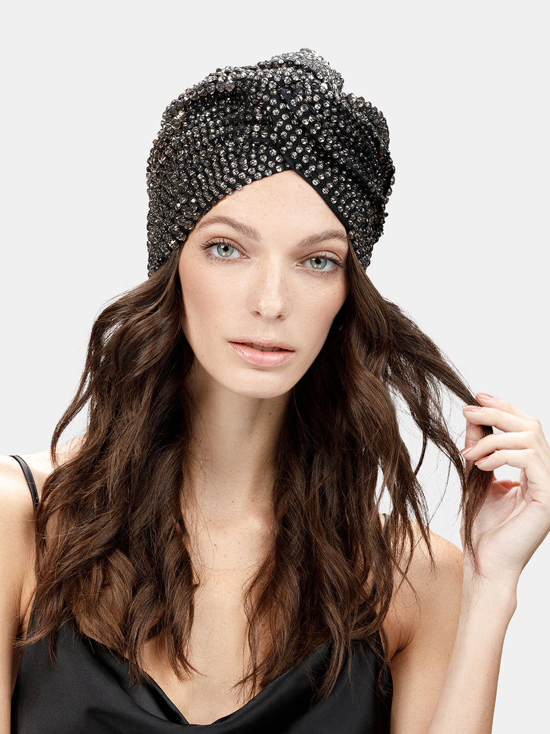 Maryjane Claverol hand embroidered luxury turban