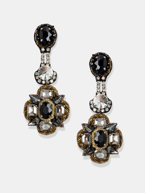 hand made crystal earrings designed by Maryjane Claverol