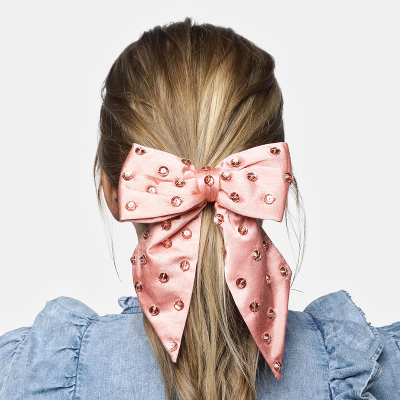 MARYJANE CLAVEROL, New Arrivals for summer, Satin Bow hair tie  by MaryJane Claverol