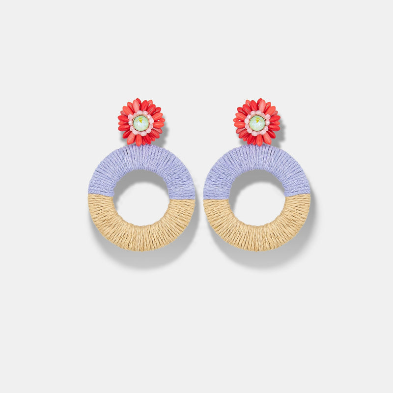 MARYJANE CLAVEROL, New Arrivals for summer, daisy flower hoops by MaryJane Claverol