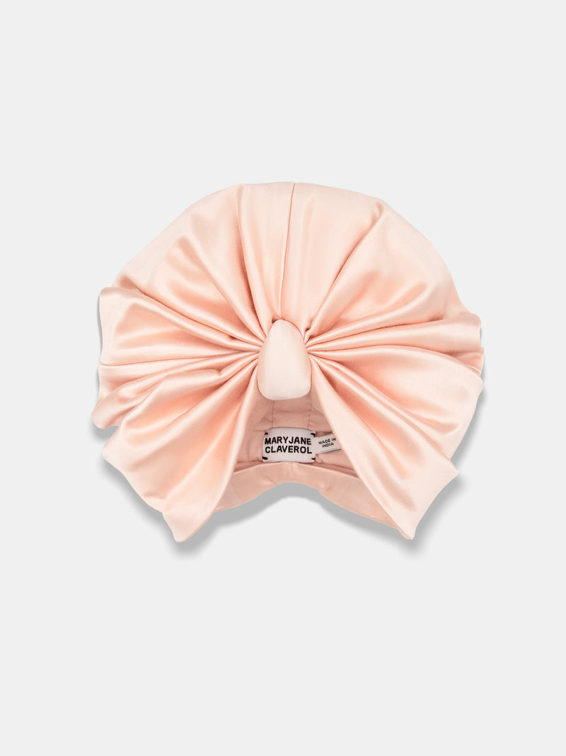 extra soft and comfortable chemo turban designed by Maryjane Claverol, stretchy cotton with soft viscose lining with a high luxury design