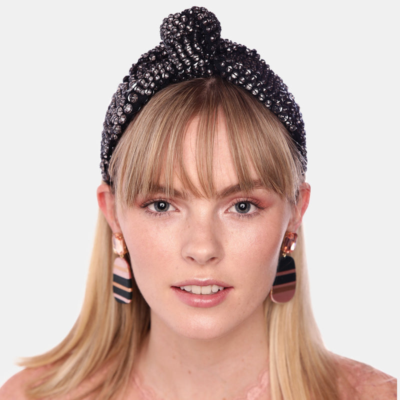 Maryjane Claverol hand embroidered luxury headband