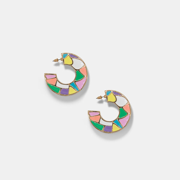 MARYJANE CLAVEROL, New Arrivals for summer, colorful enamel earrings by MaryJane Claverol