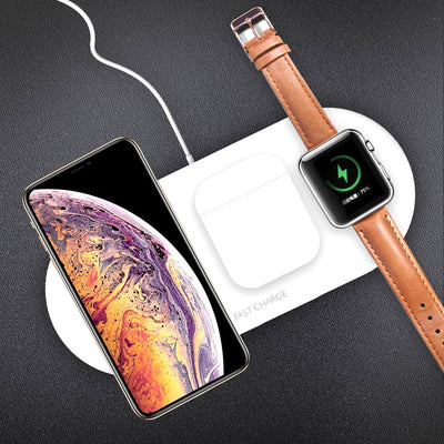 Wireless Charger 3 in1 Fast Charger For Apple Watch iPhone Airpods