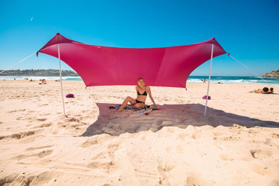 Beach Tent SunShade FREE Sandbag Anchors & Poles