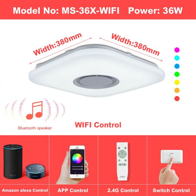 Smart Light Bulbs LED Ceiling Change Color APP Bluetooth Music