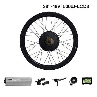 EฺBike Conversion Kit Motor Rear Bike Wheel 1500W
