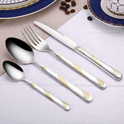 Party Supplies Flatware Sets 24Pcs Stainless Steel For Tableware