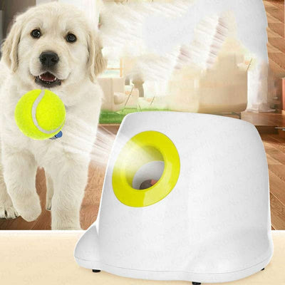 Automatic Dog Ball Thrower Pet Toys With 3 Balls Support