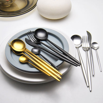 Party Supplies 24Pcs Cutlery Set Stainless Steel