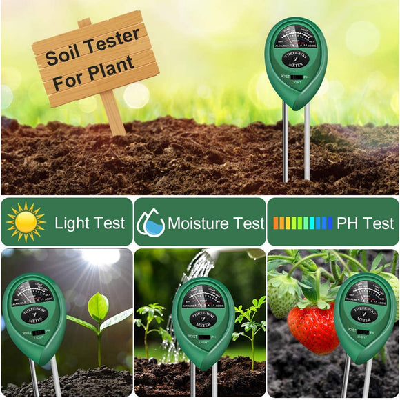 3 IN 1 SOIL METER (SUNLIGHT, PH, MOISTURE)