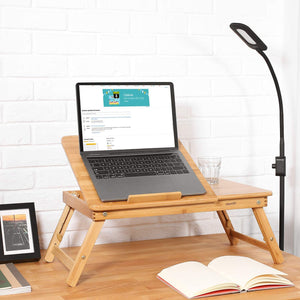 PORTABLE BAMBOO LAPTOP DESK (FULLY ADJUSTABLE)