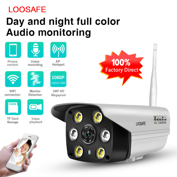 WIFI OUTDOOR CCTV CAMERA (WATERPROOF, IP CAM, TWO WAY AUDIO)