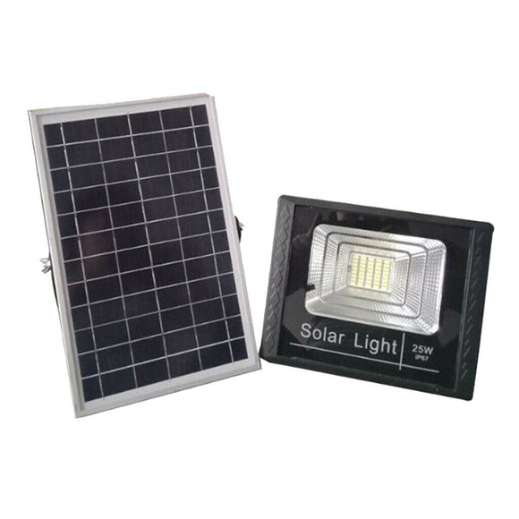 25W SOLAR LED STREET LIGHT w/ SOLAR PANEL (WATERPROOF, REMOTE, SENSOR)