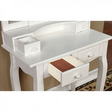 Load image into Gallery viewer, VANITY W/ STOOL WHITE