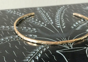 Handmade 14k Gold Filled Skinny cuff Bracelet- Gold Skinny Cuff- Cuff Bracelet - minimalist Bangle - Champagne Collection