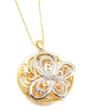 Load image into Gallery viewer, Butterfly Necklace Reversible Silver Gold Tone Fashion Necklace