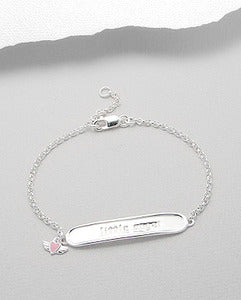 Childrens Little Angel Bracelet with Heart Charm
