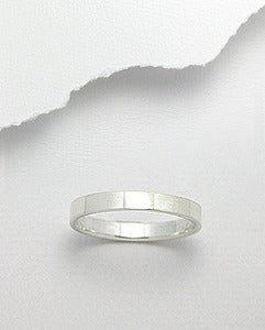 3mm Sterling Silver Wedding Band Stack Ring