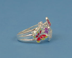 Butterfly Ring, Butterflies, Enamel Ring