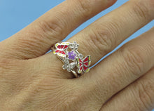 Load image into Gallery viewer, Butterfly Ring, Butterflies, Enamel Ring