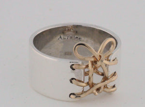 Auralee's Mini Corset Ring Sterling Silver 14K Gold Filled Corset Ring