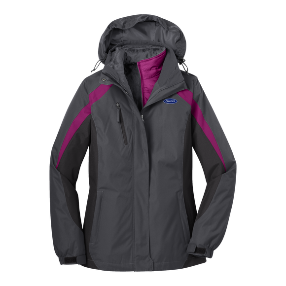 C1401W Ladies Colorblock 3-in-1 Jacket