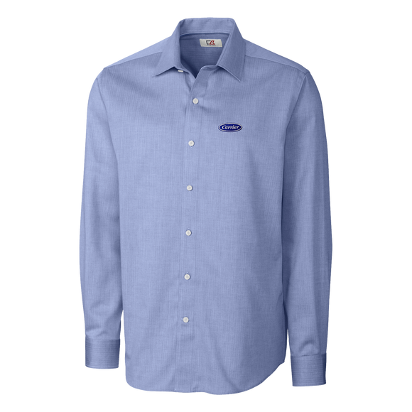 C2024M Mens Long Sleeve Mini Herringbone Shirt