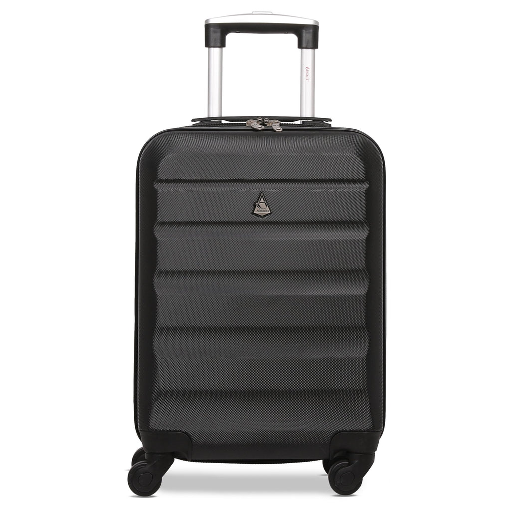 Aerolite (55x35x20cm) Lightweight Cabin Luggage | Black