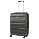 Aerolite (69x50x27cm) Medium Hard Shell Suitcase | Charcoal